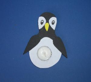 Teelichter basteln zu weihnachten kostenlose vorlagen und anleitungen bastel - Pinguin basteln vorlage ...